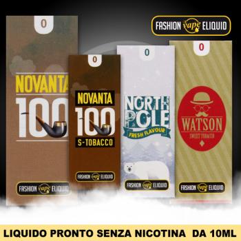 Liquidi pronti da 10ml SENZA nicotina